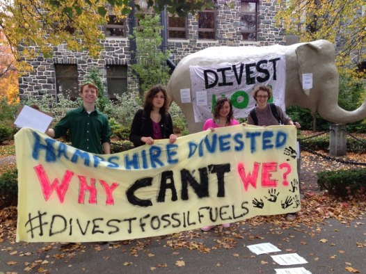 Fossil Fuel Day of Action - Jumbo gets a divestment toga!